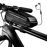 Bolsas de Bicicleta, Whuooad Bolsa Impermeable para Bicicleta, Bolsa de Cuadro de Tubo Superior para Bicicleta de Carretera Montaña