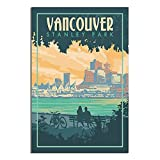 ZHBIN Stanley Park Vintage-Reise-Poster Vancouver