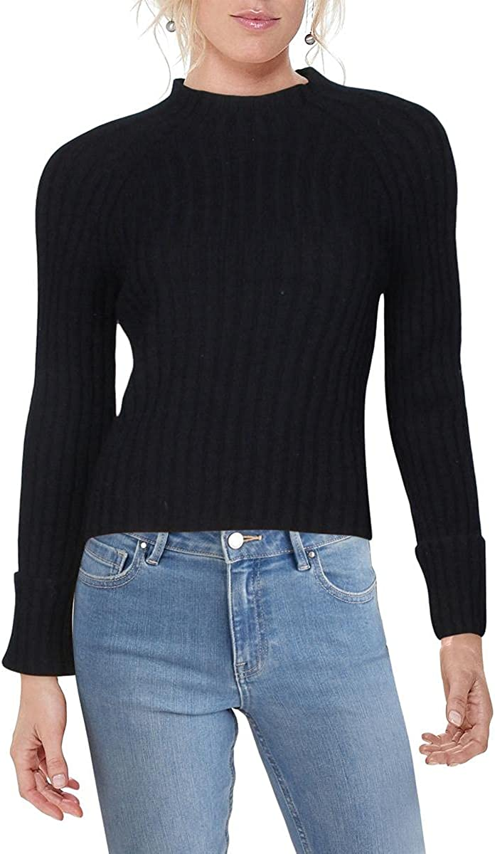 Vince Womens Wool Blend Mock Neck Pullover Sweater
