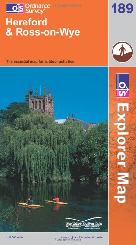 OS Explorer map 189 : Hereford & Ross-on-Wye