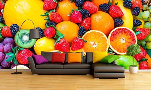 Wayshop | Fotomural Frutas | Vinilo Adhesivo Decorativo Gran Formato | Diseño Elegante | Medidas 350cm x 250cm (1 Unidad)