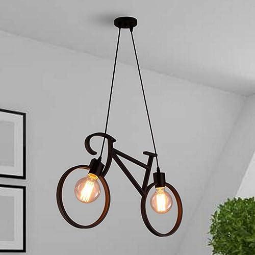 W-LI Lumières Créatives de Lustre, Lumières de Chambre à Coucher de Cuisine Bar Cafe E27 Couloir de Grenier Noir 62X36Cm
