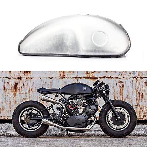 Tarazon 10L Universal Motorrad Cafe Racer Kraftstofftank Benzintank Fuel Tank Tankdeckel Benzinhahn universal XJR 400