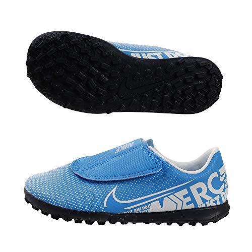 Nike Jr. Mercurial Vapor 13 Club TF, Botas de fútbol Unisex niño, Multicolor (Blue Hero/White/Obsidian 414), 29.5 EU