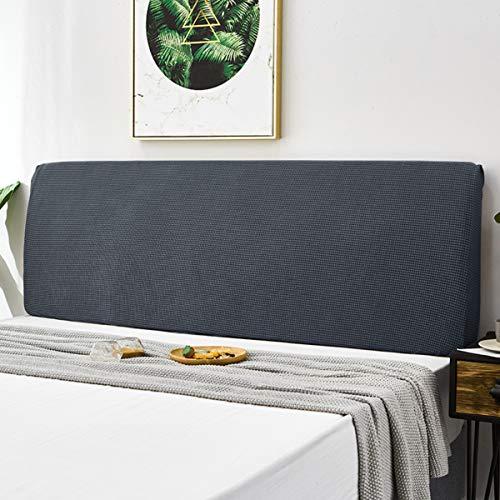 TOPOWN Funda de Cabeceros de cama, Cubierta para cabecero de cama, 180-200 cm, Protectora de Cabeceros de cama, elástica y a prueba de polvo, Gris