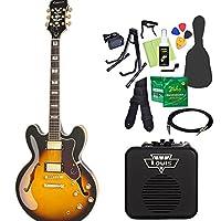 Epiphone SHERATON II PRO VS エレキギター 初心者14点セット ミニアンプ付き エピフォン