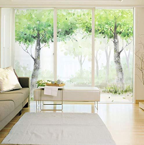 KUNHAN raamsticker elektrostatisch glas raamfolie zelfklevende woonkamer balkon kantoor glas schuifdeur Matt sticker