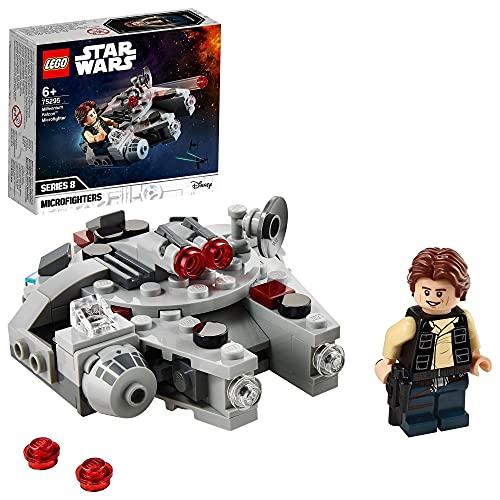 LEGO 75295 StarWars MicrofighterFauconMillenium V29 Jeu avec Han Solo Minifigure pour garçons et Filles de 6 Ans