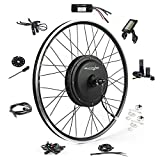 EBIKELING Waterproof Ebike Conversion Kit 48V 1200W 26' Direct Drive Electric Bike Conversion Kit - Front Wheel Electric Bicycle Hub Motor Kit (Front/LCD/Twist)