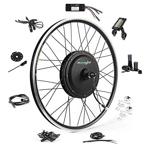 "EBIKELING Waterproof Ebike Conversion Kit 48V 1200W 26"" Direct Drive Electric Bike Conversion Kit - Front Wheel Electric Bicycle Hub Motor Kit (Front/LCD/Twist)"