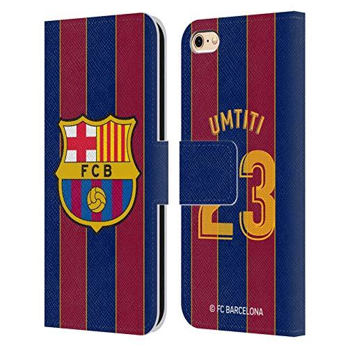 Head Case Designs Licenciado Oficialmente FC Barcelona Samuel Umtiti 2020/21 Players Home Kit Group 2 Carcasa de Cuero Tipo Libro Compatible con Apple iPhone 6 / iPhone 6s