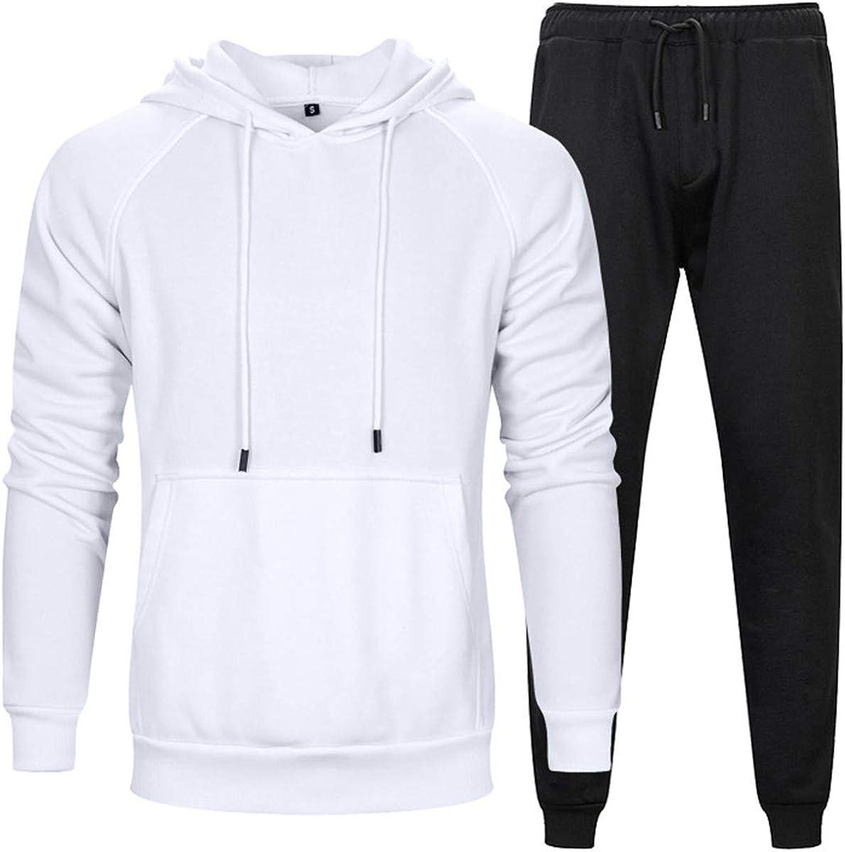 Aeneontrue Men's Tracksuit Pullover Sweat Shirts & Pants Gym Sports Suit Set Casual Sweatsuits