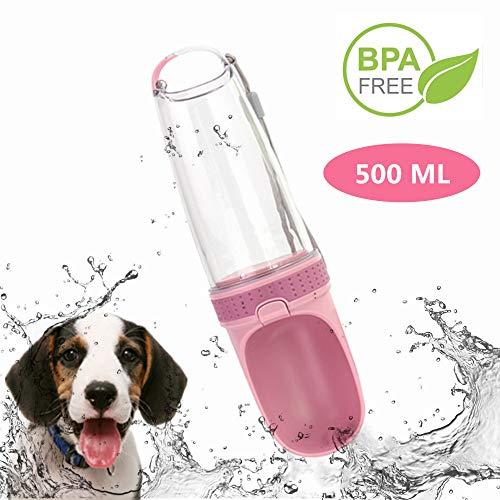 Bottiglia per Cani Portatile,500ML Bottiglia Viaggio Portatile per Cani,Dispenser di Acqua per Cani Portatile a Tenuta stagna