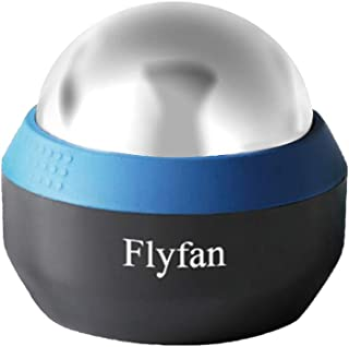 Flyfan Ice Muscle Roller Massage Ball Massagers for Neck and Back,Updated Design Therapy Ball Roller Ball Massager Roller for Sore Muscles and Sciatica Pain Relief Back Pain Relief (Blue)