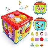LBLA Musikspielzeug Baby Spielzeug 1 Jahr 2 Jahren Junge Mädchen,Lernspielzeug,Entdeckerwürfel mit Licht und Musik