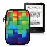 kwmobile Funda para e-reader 7.8' - Bolsa de neopreno con cierre para e-book - Estuche con diseño de cubos de colores