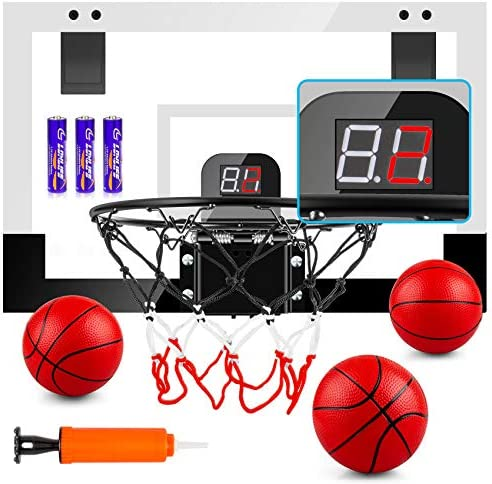 TREYWELL Indoor Mini Basketball Hoop for Kids and Adults 17 X13 Basketball Set for Door Wall product image