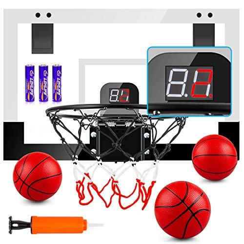 TREYWELL Indoor Mini Basketball Hoop for Kids and...