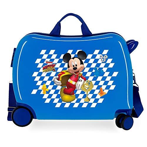 Disney Good Mood Kinderkoffer, blau, 50 x 38 x 20 cm, starr, ABS, seitlicher Kombinationsverschluss, 34 l, 3 kg, 4 Gepäckstücke