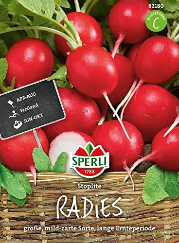 82180 Sperli Premium Radieschen Samen Stoplite | Groß, Zart und Mild im Geschmack | Lange Ernteperiode | Radieschen Saatgut
