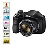Sony Cyber-Shot DSC-H300/BC E32 Point & Shoot Digital Camera (Black) 35x Optical Zoom with Camera Case