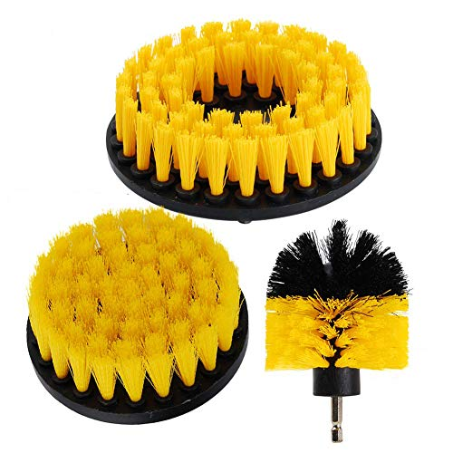 OxoxO Bohrbürste – 4' Weicher Bürste und 3' 5' mittelstarke Scheuerbürste Bohraufsatz zum Reinigen von Duschen Badewannen Badezimmer Fliesenmörtel Teppichreifen Bootspolster (3er Pack)