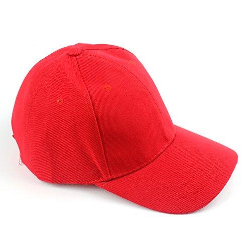 Gorra Westeng, ajustable, unisex, estilo informal Rojo rosso Talla única
