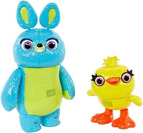 Disney Pixar Toy Story Ducky and Bunny 2-Pack in Movie-inspired Relative Scale Interactive, Talking, For Ages 4 Years Old and Up