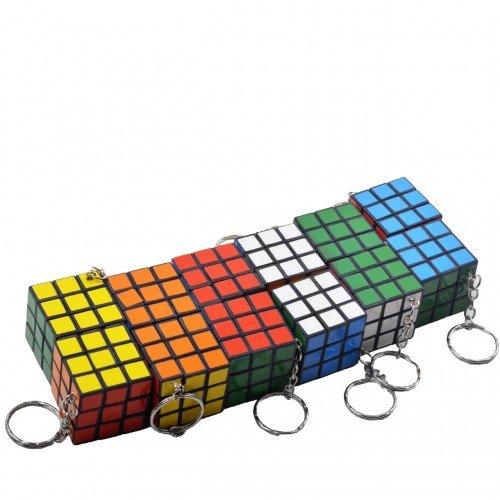 Kit Com 12 Chaveiros Cubo Mágico