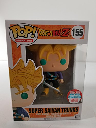 Funko POP! Super Saiyan Trunks Dragonball Z DBZ #155 NYCC Limited image
