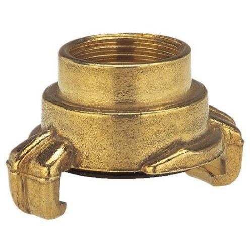 Gardena Messing-Schnellkupplungs-Gewindestück mit Innengewinde: Schlauchanschluss, 42 mm (G 1 1/4 Zoll)-Innengewinde für Hähne mit Außengewinde (7110-20)
