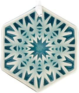 Pewabic Snowflake Ornament - Frost
