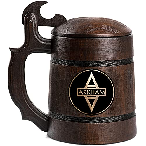 Batman: Arkham Asylum Beer Mug, Custom Video Gamer Beer Stein, Geek Gift, Personalized Beer Tankard, Gift for Men, Gift for Him