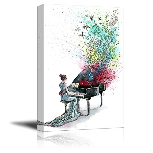 Canvas Prints Wall Art - Grand Piano Music (Series C) - 16' x 24'