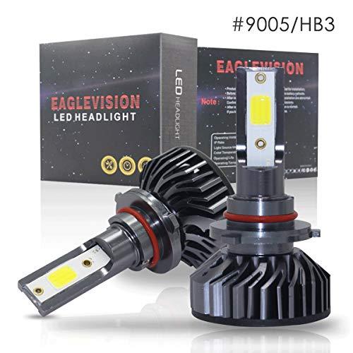 2Pack H7 / 9005/9006 / H1 / H4 / H11 Kit de conversion d'ampoules de phare de voiture 60xDOB Puce Lumière de rechange 6500K Xenon Blanc (Size : 9005/HB3)