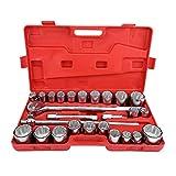 """Qiilu Auto Utensili a mano Corredi di bussole, 27pcs 3/4""""Set di chiavi per chiavi a bussola a impatto standard Kit di strumenti di riparazione camion auto"""