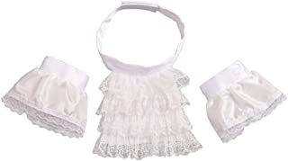 Colonial Lace Jabot Cuffs Set Costume Accessory