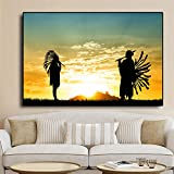 QWESFX Retro Aircraft Art Abstract Blank Canvas Painting Kids Painting Set Painting by Numbers Canvas Art Prints Estirado Lienzo para Pintar (Imprimir sin Marco) A5 60x120CM
