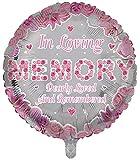Globos de papel de aluminio de lujo en forma redonda de recuerdo rosa con forma de recuerdo de globos funerarios, globos de aluminio para mesa de memoria, conmemoración, condolencia, aniversario