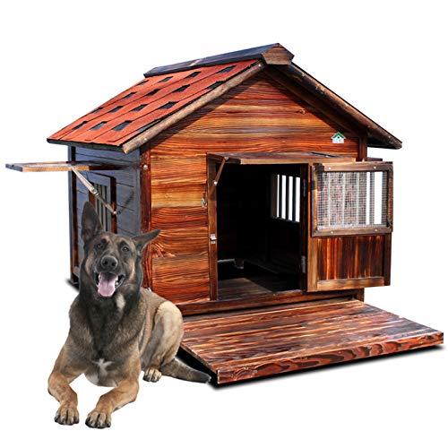 Casa Per Cani In Legno Massello, Grande Canile All'aperto Casa Per Animali Domestici Impermeabile E Impermeabile, Gabbia Per Cani In Legno Di Casa All'aperto, Con Una Durata Di Vita Fino A 20 Anni