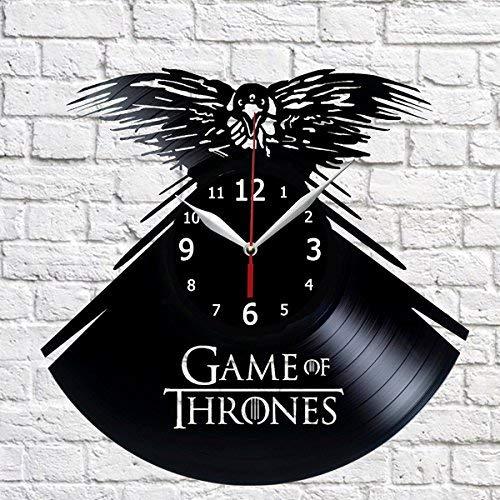 RaduPUSH Game Thrones Vinyl Record Handmade Uni Latest item Indianapolis Mall Wall Decor Clock