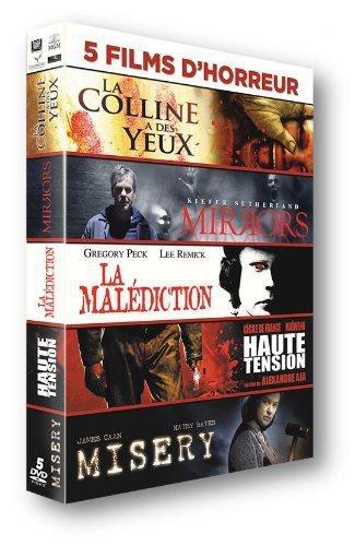 5 Films d'horreur : La Colline à des Yeux + Mirrors + La malédiction + Haute Tension + Misery