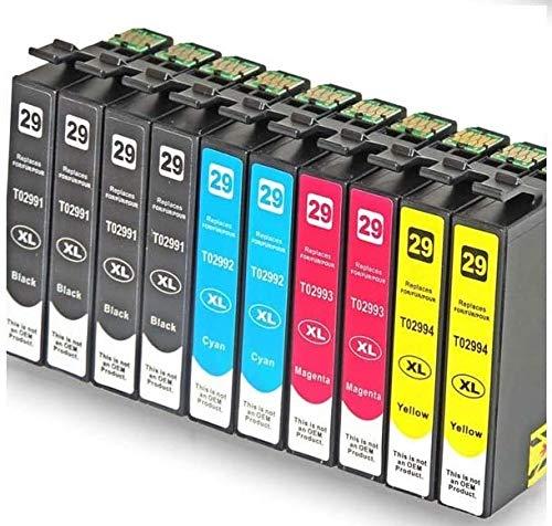 BRAMA CARTUCHOS - Pack de 10 Cartuchos compatibles con t29XL T2991 - T2994 (1), Tricolor