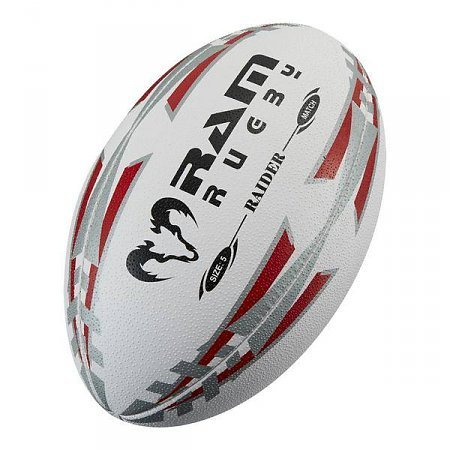 Ram Rugby - Offizieller MLR-Wettkampfball - Absolutes Top Rugbyball - Große 5 (Rot)