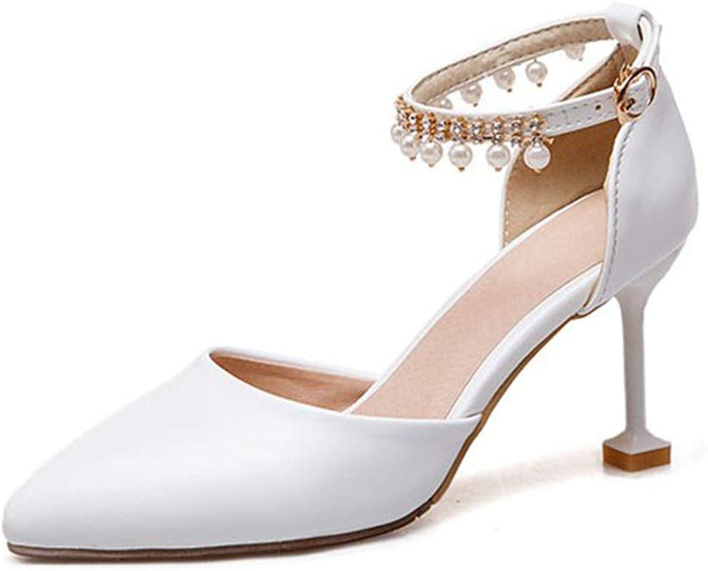 Damen Hochzeit Schuhe Brautschuhe Knchelriemen Stckelschuhe Ktzchen Ferse Kleid Pumps Party Closed Toe Sandalen