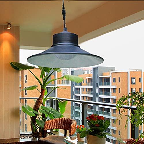 Lámparas solares para exteriores, lámpara colgante con mando a distancia, cable de 5 m, panel solar ajustable, lámpara de pared, para jardín, camping, terraza, decoración del hogar