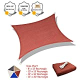 SUNLAX Sun Shade Sail, 8'x12' Red Rectangle Outdoor Awning Shade Cover 185GSM HDPE UV Block for Patio Shading