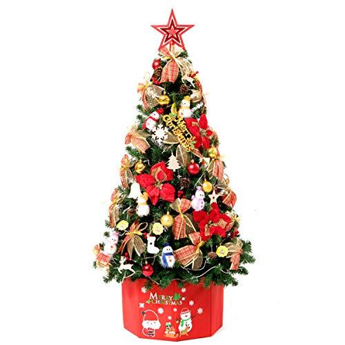 MIMI KING Arbre De Pin Artificiel Qui Respecte l'environnement De Pied De 1,2M / 4 Pieds avec La Boîte, Lumières De LED, Décorations, pour Le Nouvel an Extérieur D'intérieur De Noël