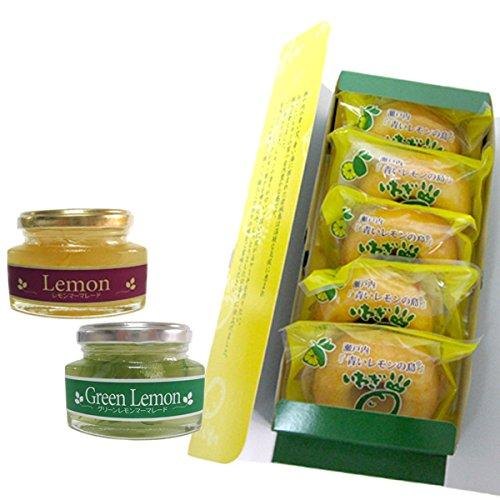 檸檬スイーツセットA グリーン・レモンマーマレード ミニレモンケーキセット 瀬戸内レモン使用
