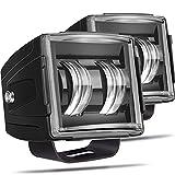 LED Cube Lights, Adzoon 2 Pcs 80W CREE 3 Inch LED Pod Lights 3x3 Offroad Driving Lights Spot LED Light Bars Fog Lights Square LED Work Light for Truck Car SUV ATV UTV Motorcycle 4WD